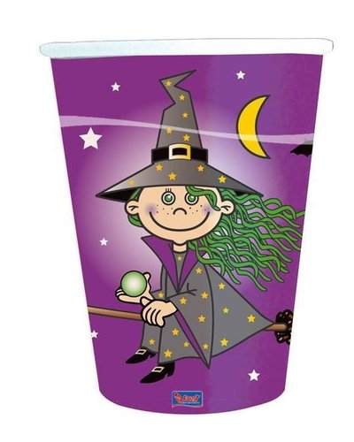 """magicoo 8 Becher """"Kleine Hexe"""" für Halloweenparty"""