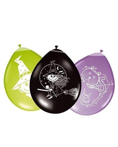 """magicoo 8 Luftballons """"Hexe und Katze""""  für Halloweenparty"""