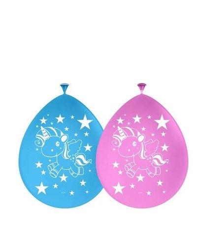 """magicoo 8 Luftballons mit dem """"Einhorn"""" Motiv"""