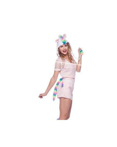 magicoo Einhorn-Mütze und Schwänzchen für Kinder und Erwachsene