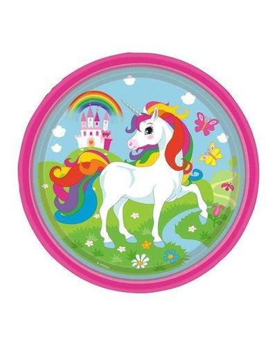 magicoo 8 Partyteller - Regenbogen-Einhorn