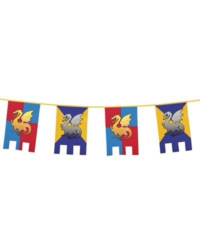Magicoo Wimpelgirlande mit Flaggen für Ritterparty