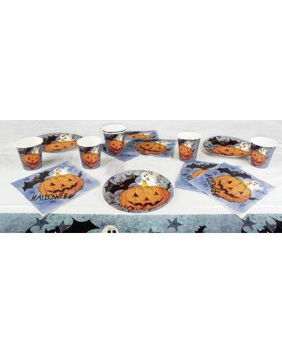 Magicoo Halloween Party Tischset - Geister, Fledermäuse  und Kürbisse