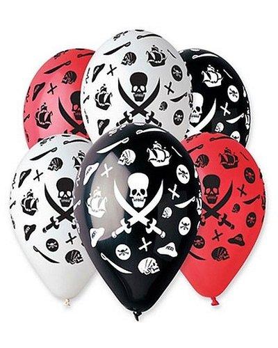 Magicoo Luftballons für Piratenparty dreifarbig