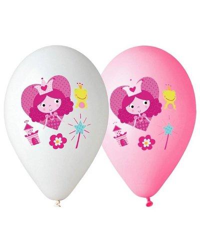 """Magicoo Rosa und weiße Luftballons """"Prinzessin"""""""