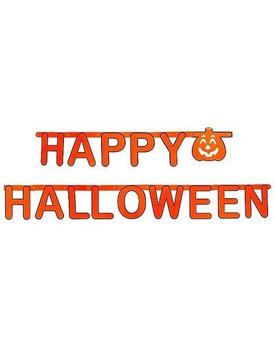 "Magicoo Orangene Girlande ""Happy Halloween"" 160 cm"