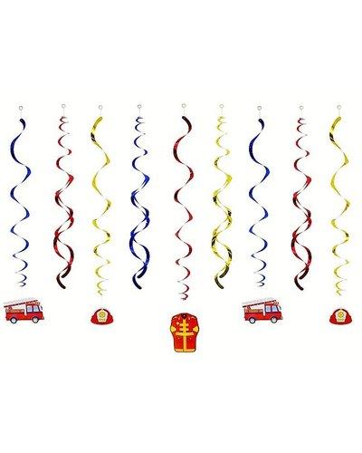 Magicoo Dekoration hängende Girlande mit  Feuerwehr-Motiv