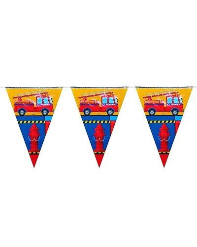 Magicoo Wimpelgirlande mit  Feuerwehr-Motiv 3,6 m