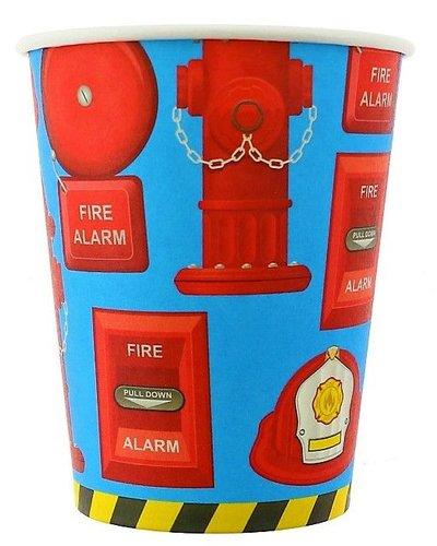 Magicoo Partybecher mit Feuerwehr-Motiv- 6 Stück