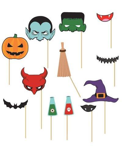 Magicoo Fotorequisiten für Halloweenparty -12 Stück