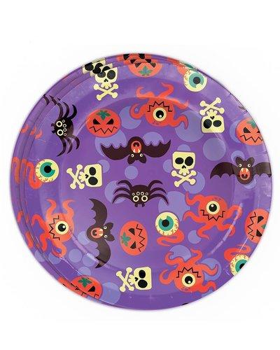 Magicoo 8 Partyteller mit Halloween Motiven - lila