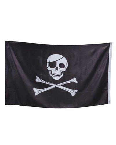 Magicoo Schwarz-weiße Piratenfahne  - 90x150 cm