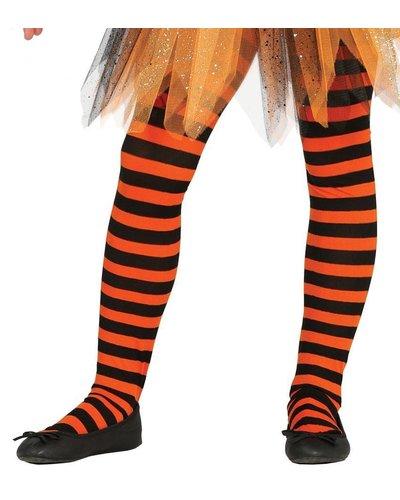 Magicoo Ringel-Strumpfhose für Kinder schwarz-orange