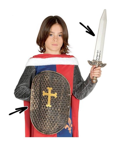 Magicoo Mittelalterliches Ritterschwert und Schild
