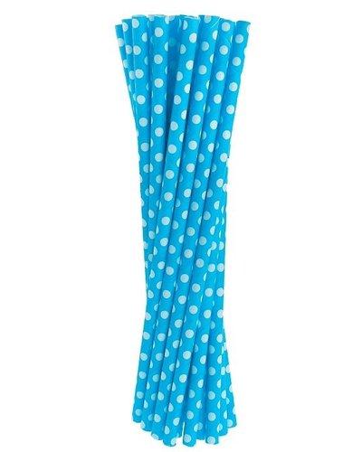 Magicoo 24 Papierstrohhalme blau- gepunktet