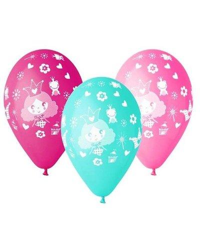 "Magicoo Luftballons ""Prinzessin"" in Pink, Rosa und Blau"