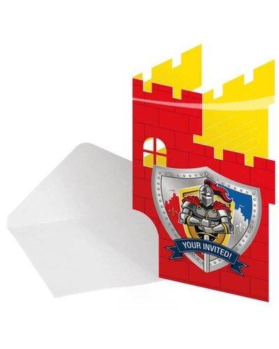 Magicoo 8 Einladungskarten für Ritterparty