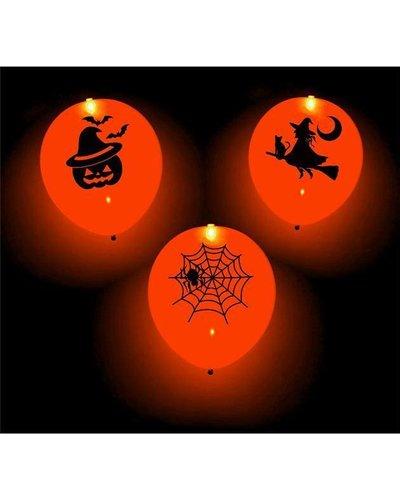 Magicoo 4 Halloween Ballons mit LED - orange