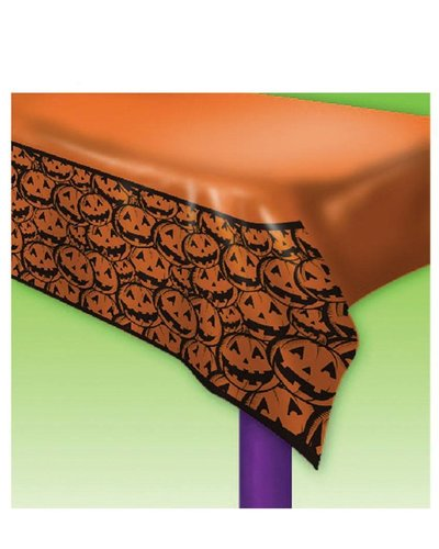 """Magicoo Halloween Tischdecke """"Lachende Kürbisse"""" - orange"""