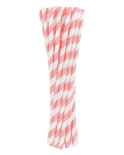 Magicoo Papierstrohhalme rosa gestreift - 24 Stück