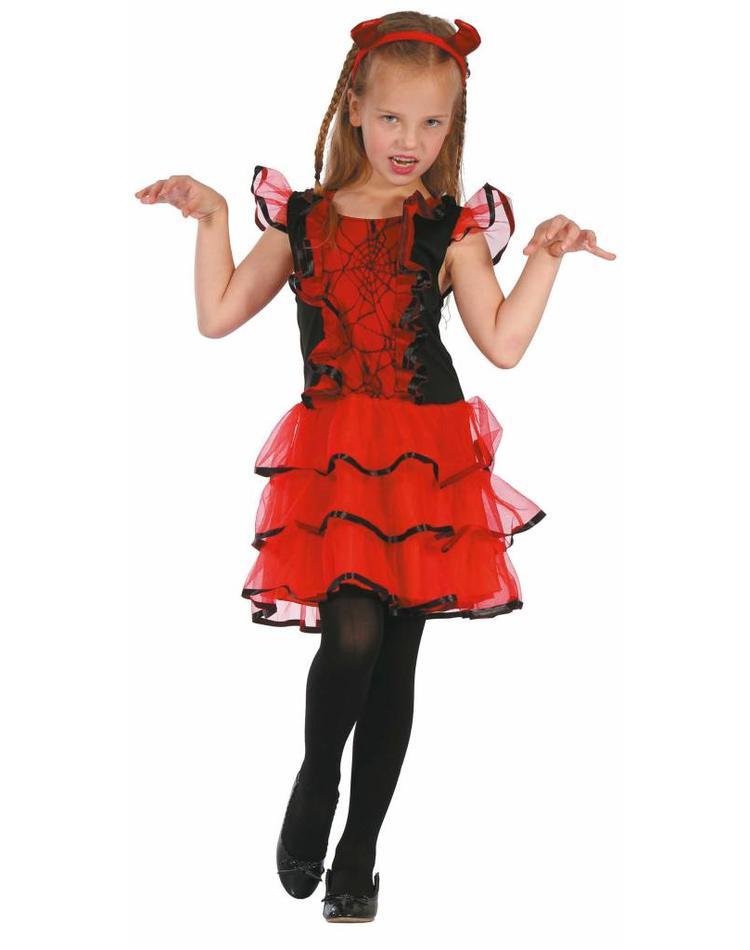 Teufel Kostüm Für Mädchen Inkl Kleid Und Haarreifen Magicoo