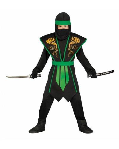Magicoo Ninja Kostüm für Kind grün-schwarz
