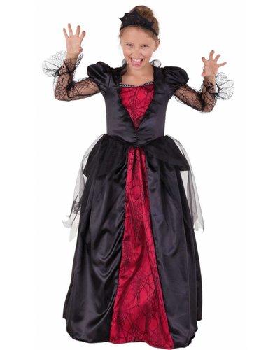 Magicoo Königin Vampirkostüm für Mädchen inkl. Diadem