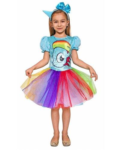 magicoo Buntes Einhorn-Kostüm für Mädchen