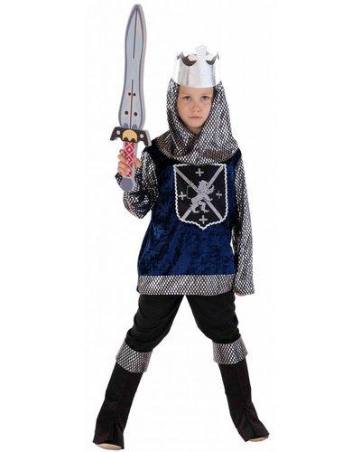 Magicoo Ritter Kostüm Kinder silber-blau