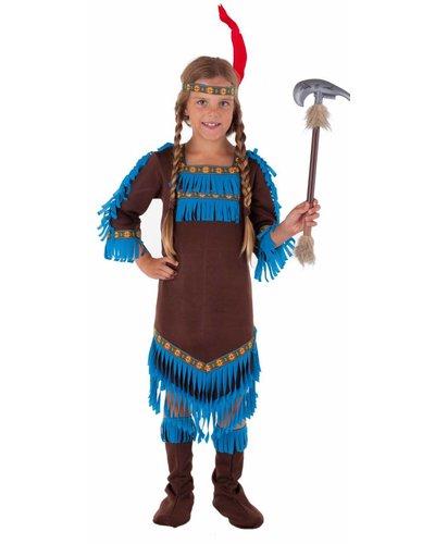 Magicoo Indianer Königin Mädchen Kostüm