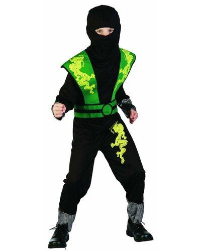 Magicoo Dragon Ninja Kostüm für Kind grün