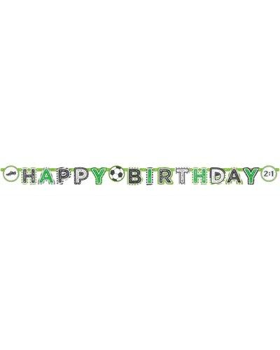 """Magicoo Banner """"Happy Birthday"""" für Fußball Geburtstagsparty"""