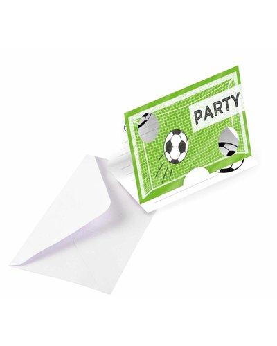 8 Einladungskarten für Fußball Party