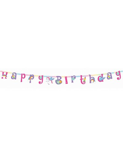 "Magicoo Banner ""Happy Birthday"" für Einhorn-Party"