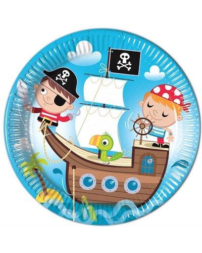 "Magicoo 8 Pappteller ""tapfere Piraten"" blau - 23 cm"