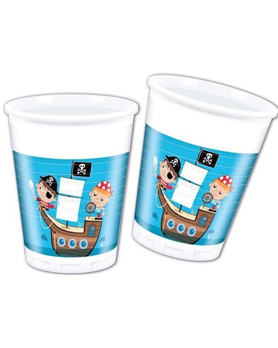 "Magicoo 8 Partybecher ""Tapfere Piraten"" - 270 ml"