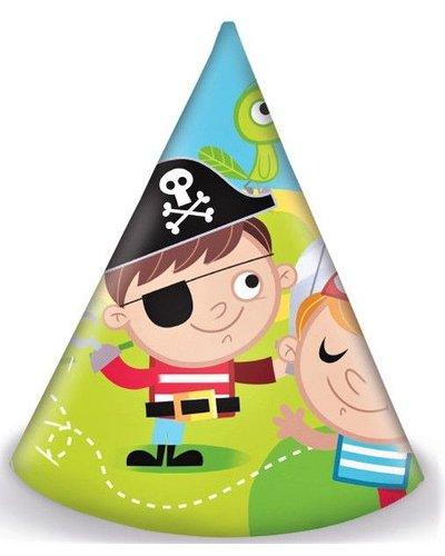 "Magicoo Partyhüte ""Tapfere Piraten"" - 6 Stück"