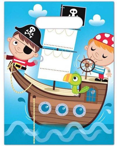 """Magicoo Partytüten """"Tapfere Piraten"""" - Geschenktüten - 6 Stück"""