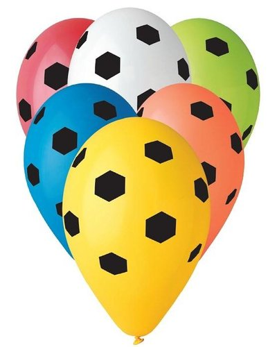 """Magicoo Buntes Luftballon-Set """"Fußball"""" 5 Stück"""