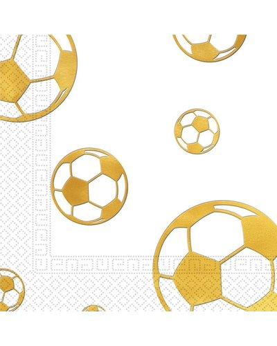 """Magicoo 20 Servietten Fußball """"Golden Goal"""" - 33x33cm"""