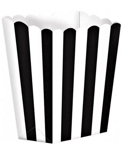 Magicoo 5 Pappschachteln - weiß-schwarz gestreift