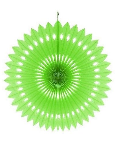 Papierfächer grün - 40 cm