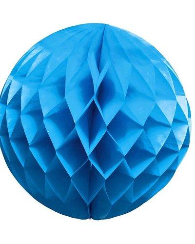 Party Wabenball blau - 25 cm