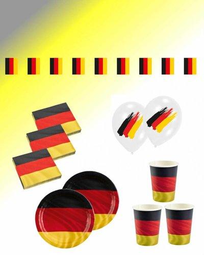 Magicoo Partyset Fußball Deutschland Party - 43-teilig