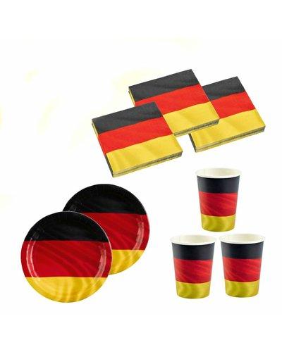 Magicoo Partyset Fußballparty  Deutschland - 36-teilig