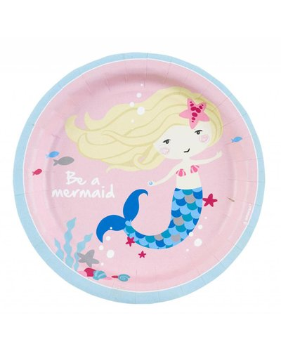 Magicoo 8 Partyteller rosa - Magische Meerjungfrau - 18 cm