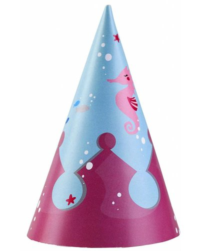 Partyhüte Meerjungfrau - 8 Stück