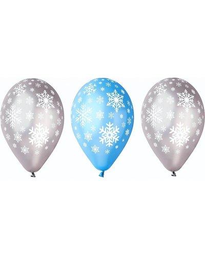 """Luftballons """"Schneeflocken"""" - 5 Stück"""