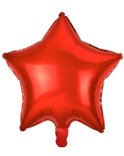Magicoo Folienballon Stern rot - 48 cm groß