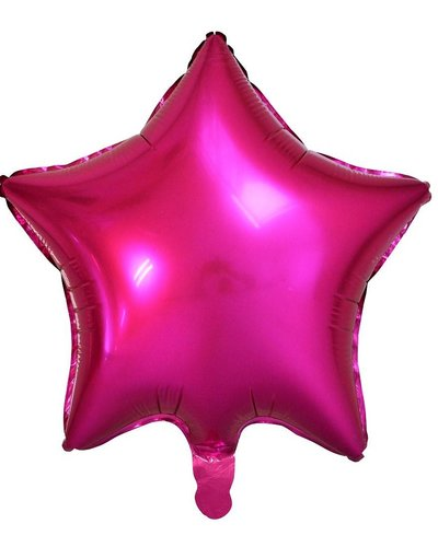 Magicoo Folienballon Stern Magenta Pink